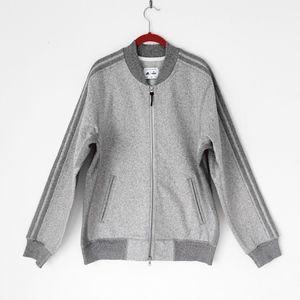 ADIDAS REIGNING CHAMP grey track sweatshirt jacket